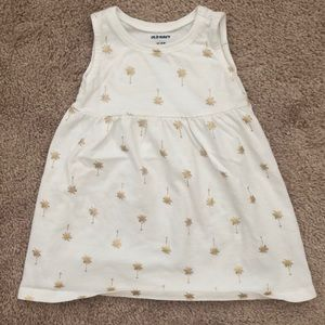 Old Navy Gold Palm Trees Girls Dress 12-18 months
